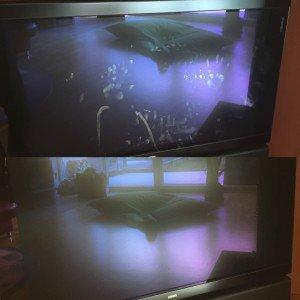 Fernseher streifenfrei sauber