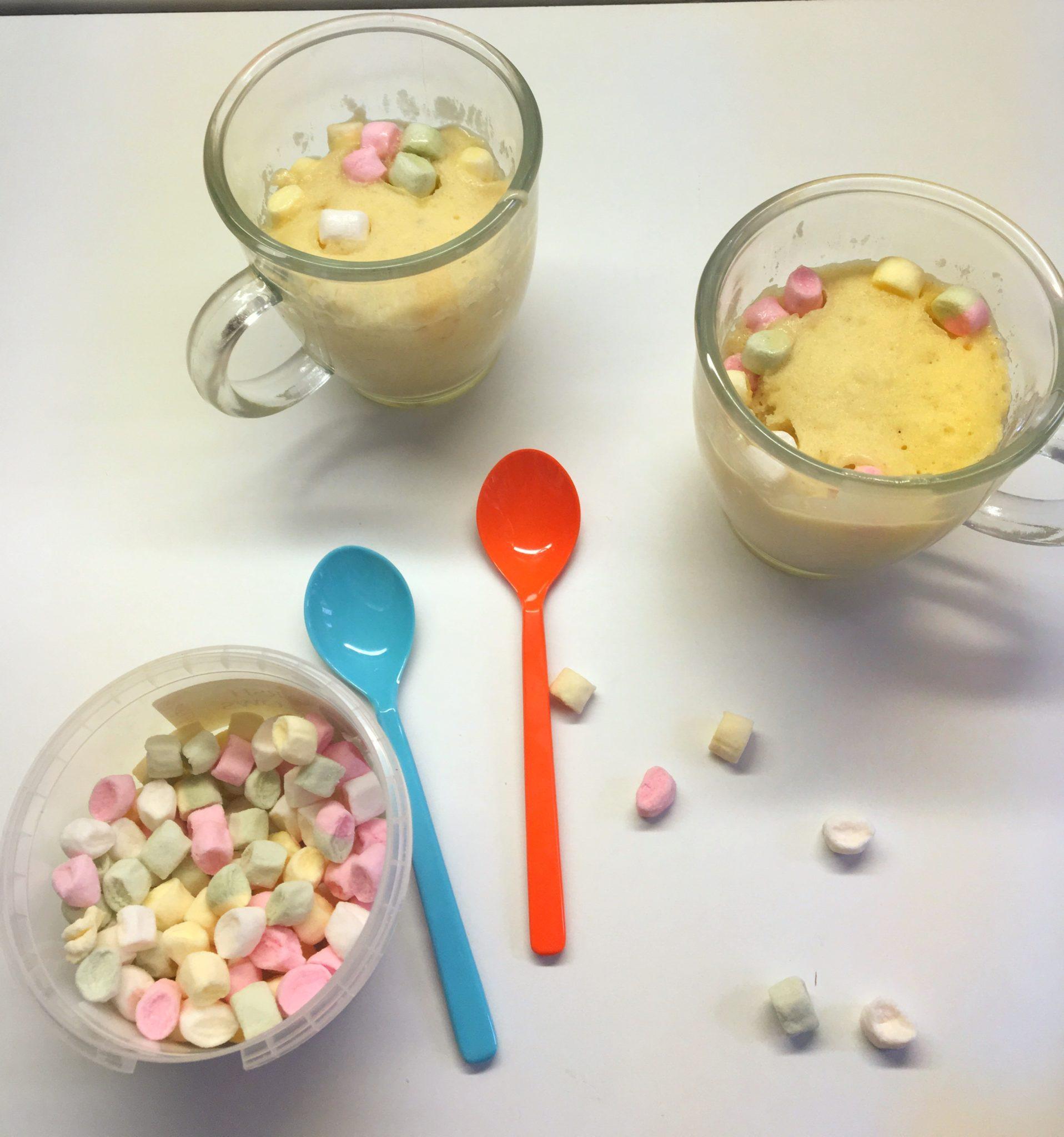 Mug Cakes mit Marshmallow/tagaustagein