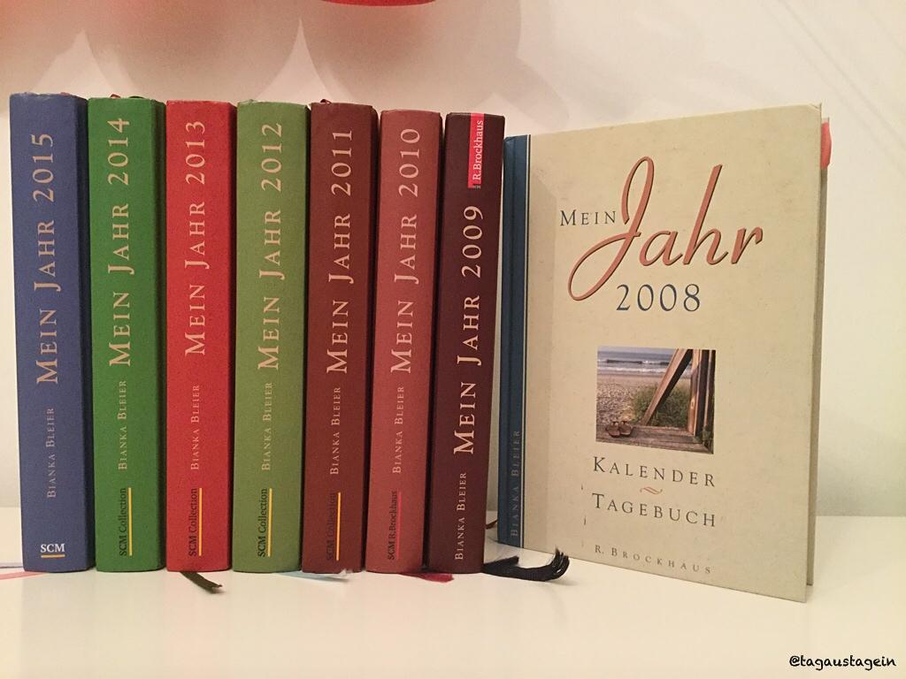 meine Tagebücher, mein Jahr, tagaustagein about me