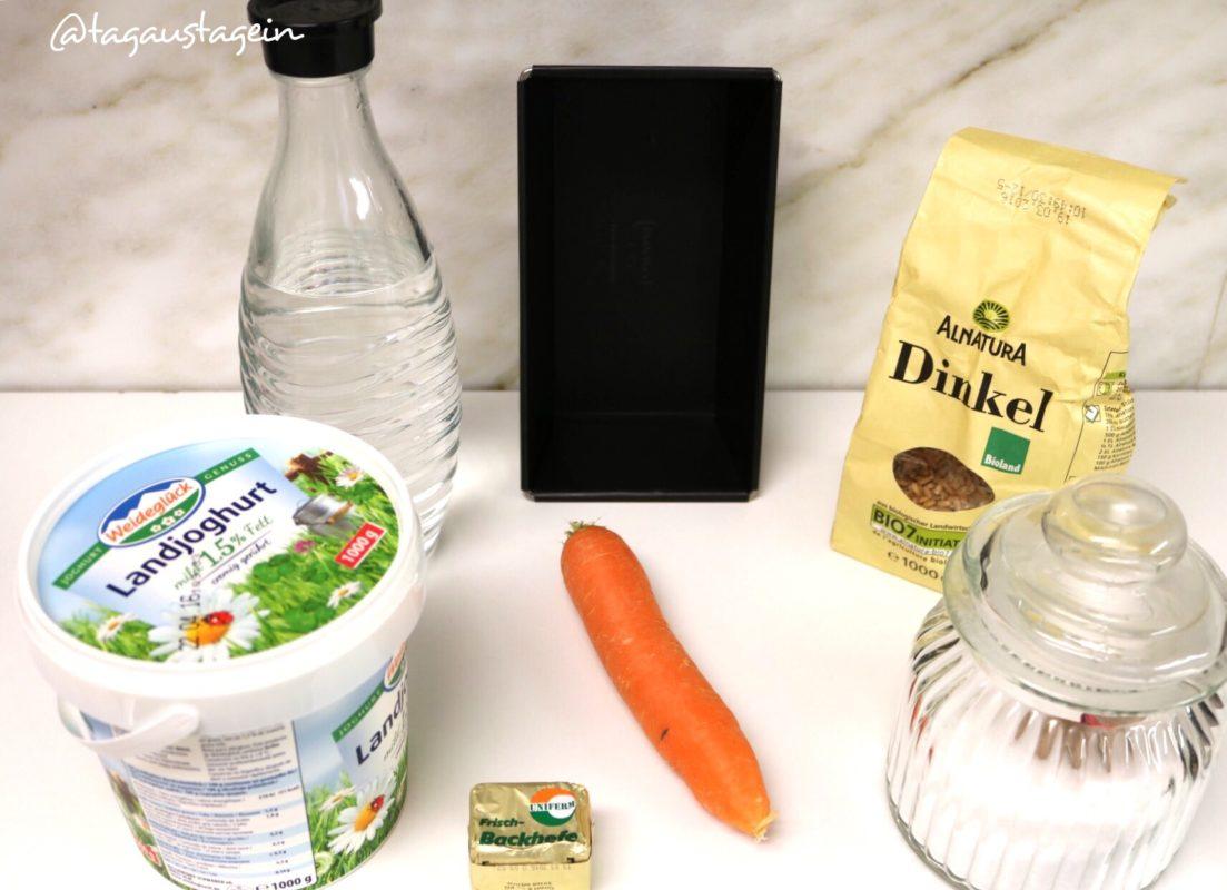 Rezept dinkel-karotten-brot- mit joghurt  aus dem thermomix