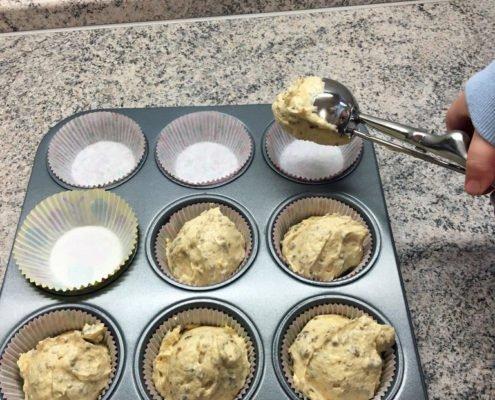 Muffins mit Eisportionierer