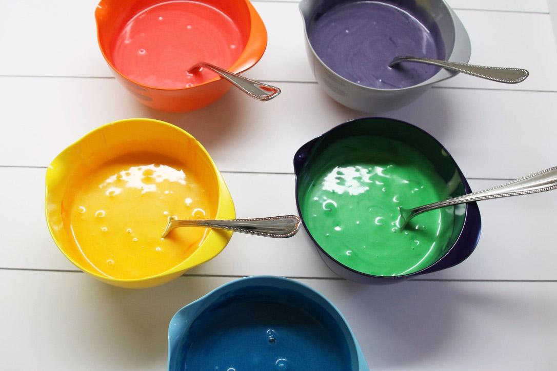 schneller Regenbogenkuchen - Zubereitung