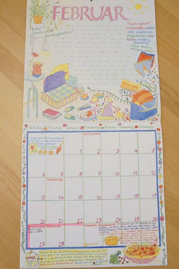 Lieblingskalender 2017, Wandkalender, Wandplaner, Mondkalender, Taschenkalender, Güss, Mein buntes Jahr - Kalender, Kalender Weekview compakt
