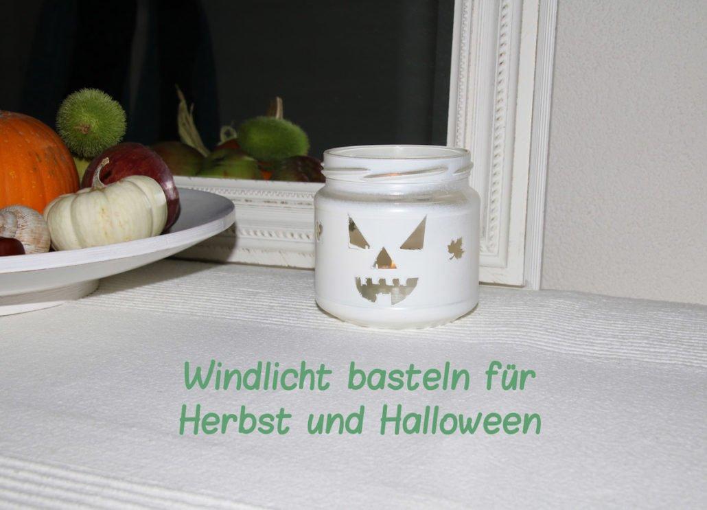 Windlichter basteln für Herbst und Halloween, mit Blättern und Einmachgläsern, für Teelichter, einfache Bastelidee mit Kindern für den Herbst