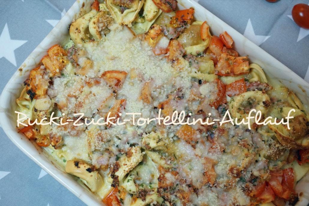 Tortellini Auflauf mit Schinken, Sahne, Tortellini Auflauf mit Tomaten, Rezept Tortellini Auflauf Thermomix, schnelles Familienrezept