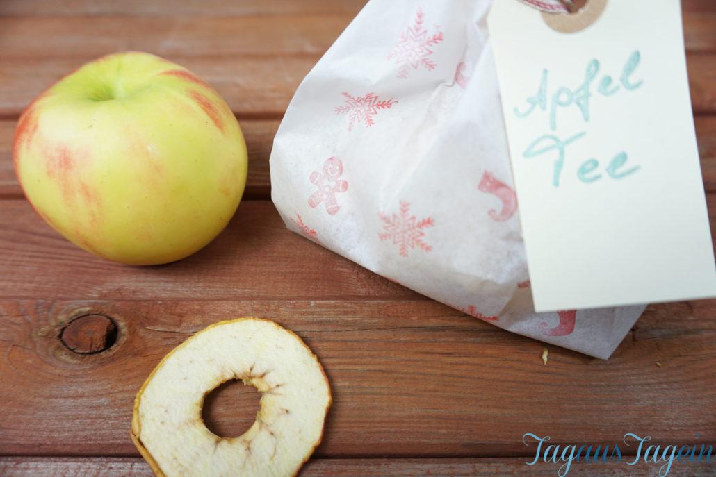 Apfeltee - ein last minute Geschenkidee diy, Geschenkidee Frauen DIY