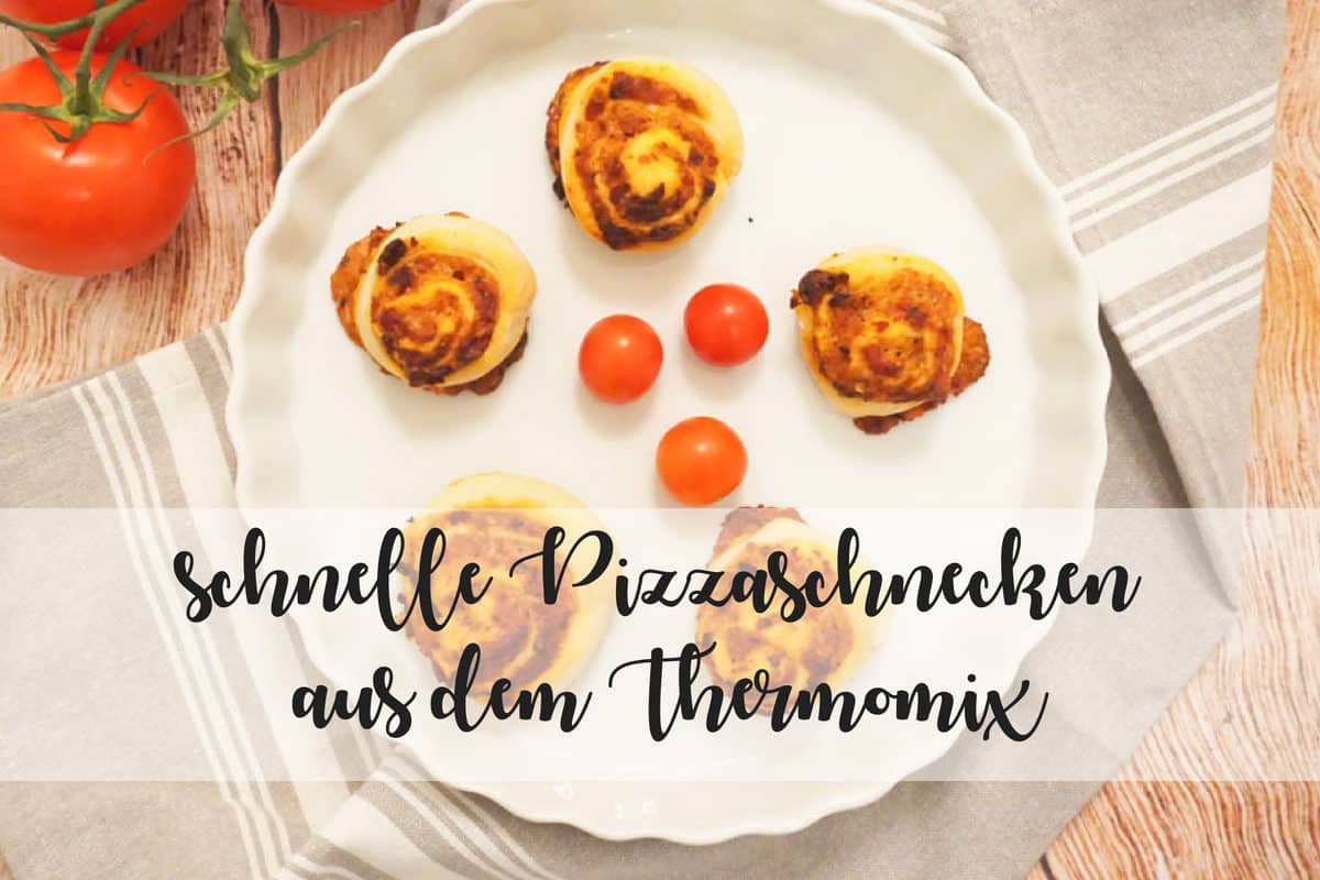 Schnelle Pizzaschnecken – Thermomix Rezept