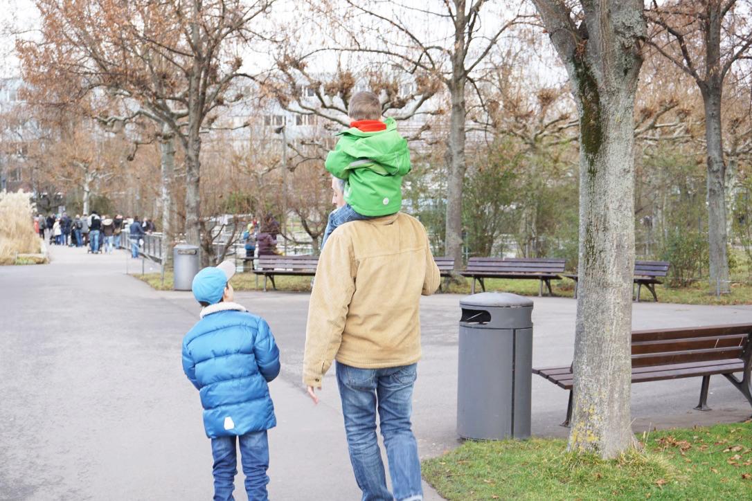 Familienausflug in die Wilhelma am 2. Weihnachtsfeiertag