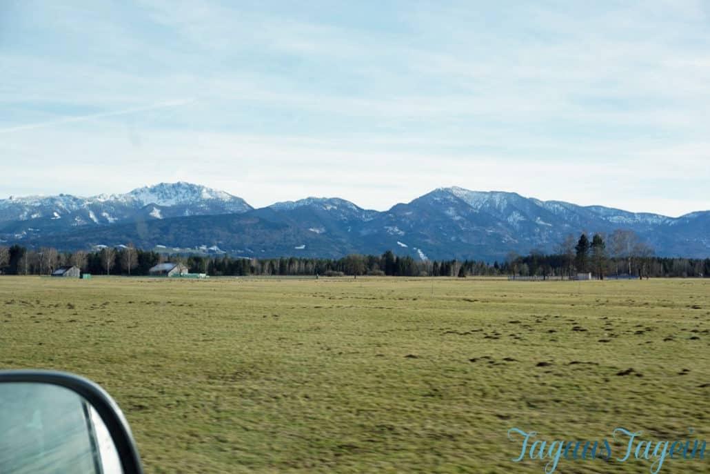 Fahrt nach Bayern Berge