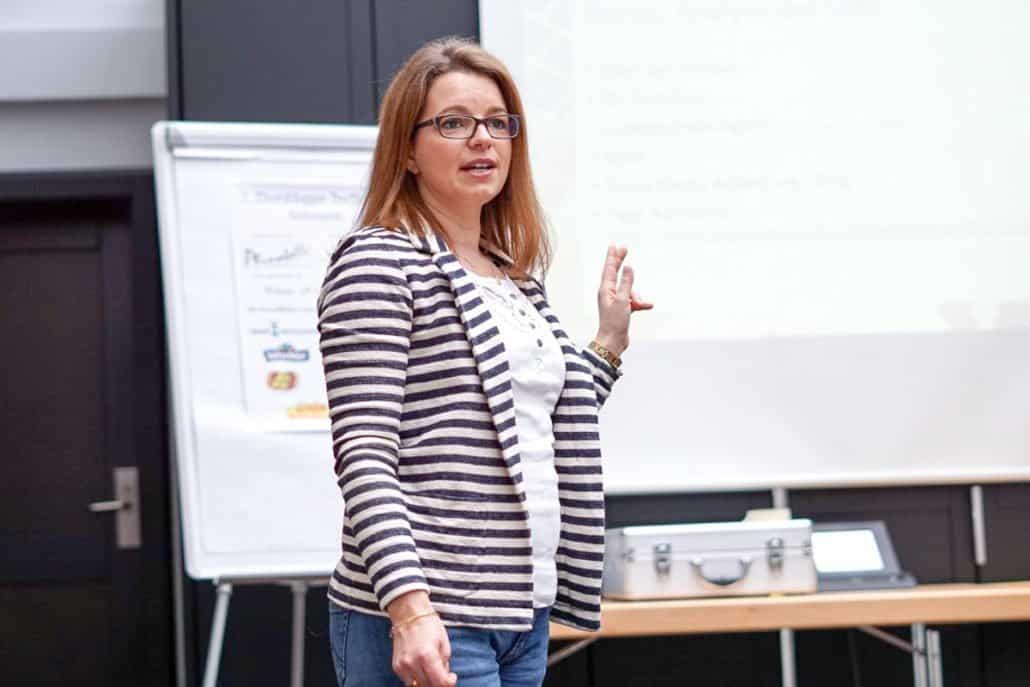 Mareike von Mamis Start up Vortrag SEO Elternbloggertreffen