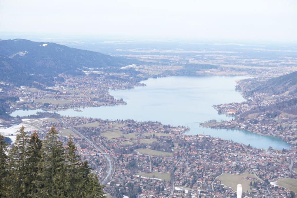 Blick auf den Tegernsee vom Wallberg