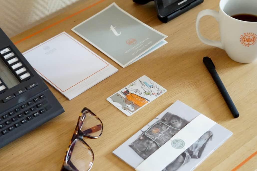 Schreibtisch im Hotel Bachmair