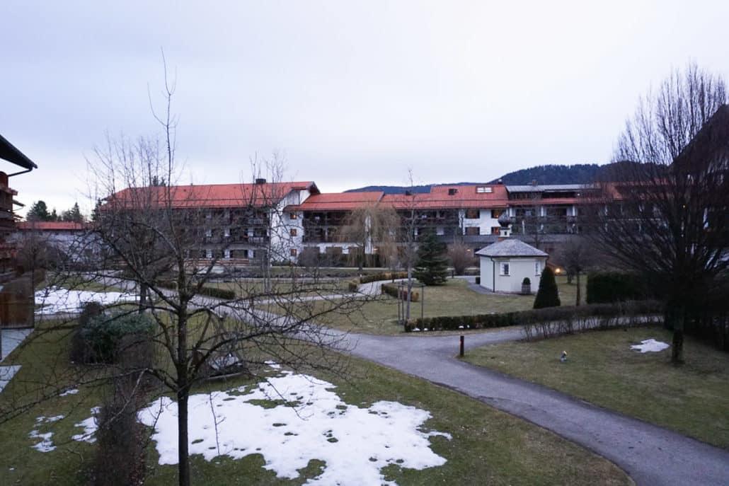 Innenhof Hotel Bachmair