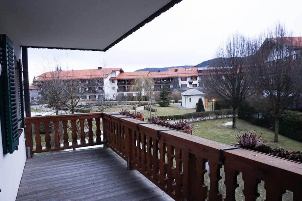 Blick aus unserem Zimmer Haus Ferdinand Hotel Bachmair