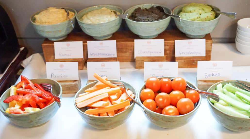 Vegane Ecke Frühstücksbuffet Bachmair Weissach