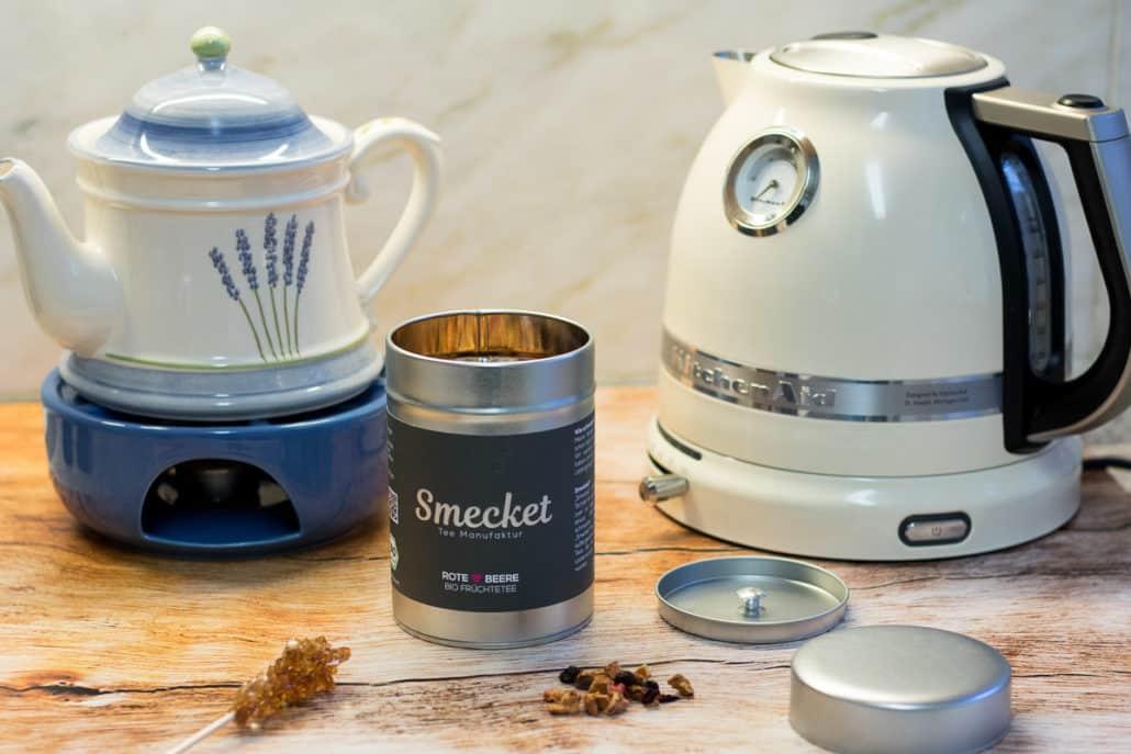 Tee Teekanne Wasserkocher Smecket-Tee