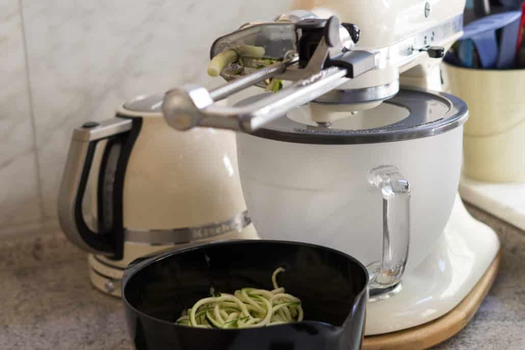 Zucchininudeln mit der Kitchenaid
