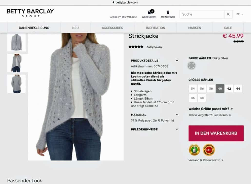 Strickjacke Betty Barclay
