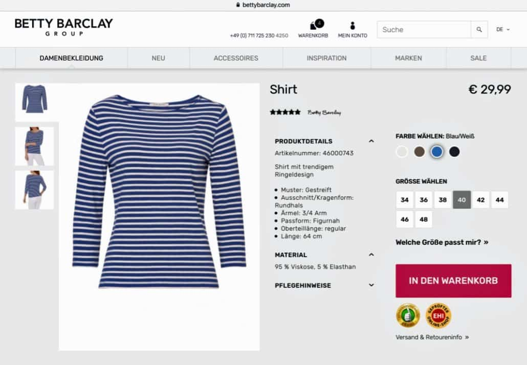 Betty-Barclay-Onlineshop