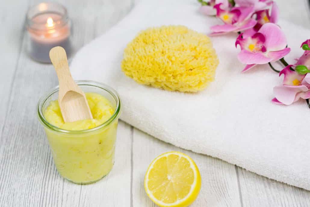 Limonen Peeling Zitronen Peeling selbstgemacht