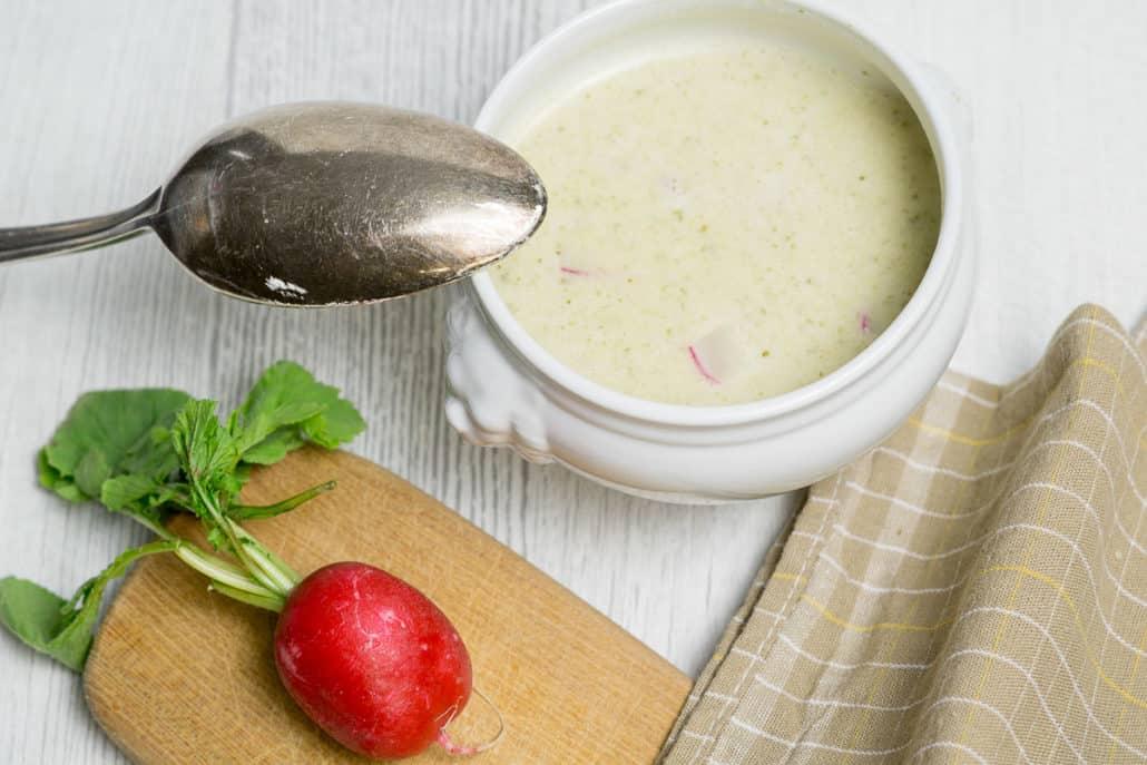Kartoffel-Radieschen-Suppe