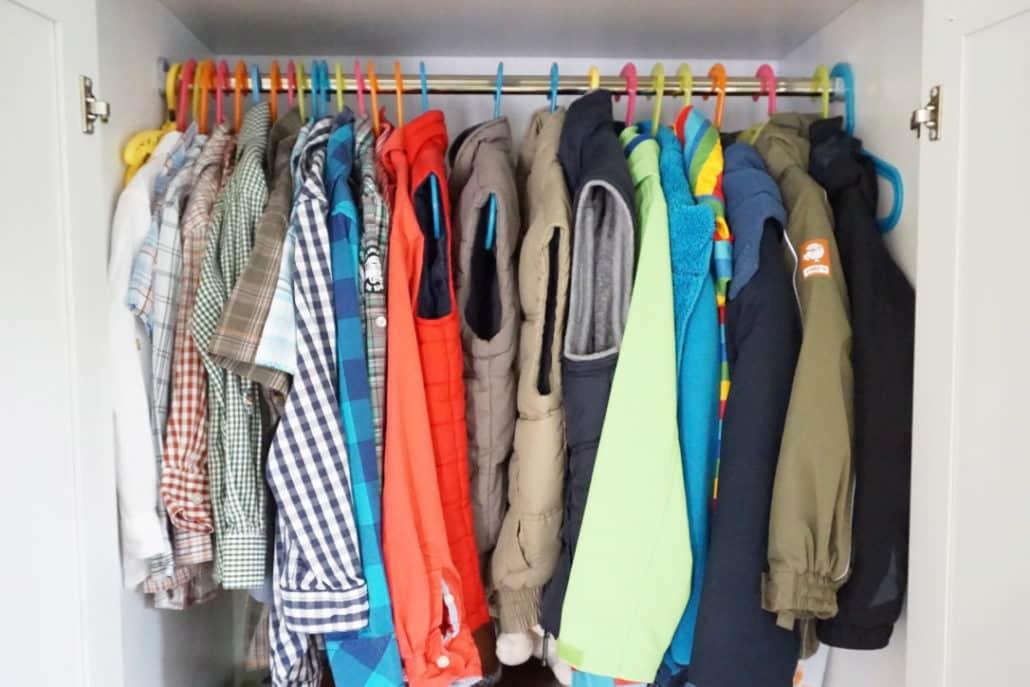 meine Kinder tragen gebrauchte Kleidung
