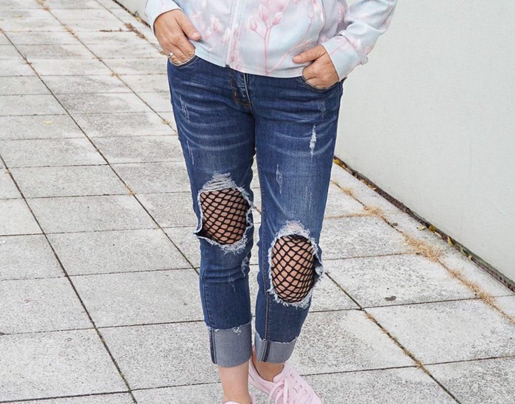 Netzjeans Jeans mit Netz MillionX