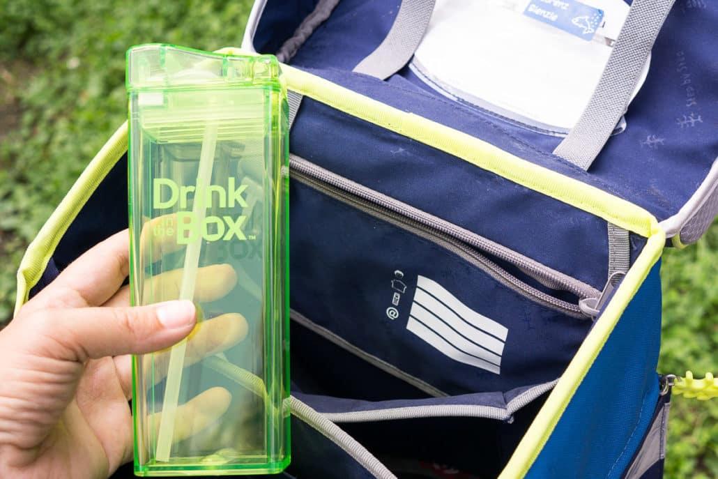 Drink in the box, auslaufsichere Trinkflaschen, Trinkflasche für Kleinkinder, Trinkflasche für Schule und Kindergarten