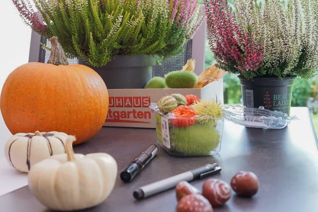 Kürbisse bemalen, Ideen & Anregungen für Herbstaktivitäten mit Kindern, Herbst mit Kindern basteln