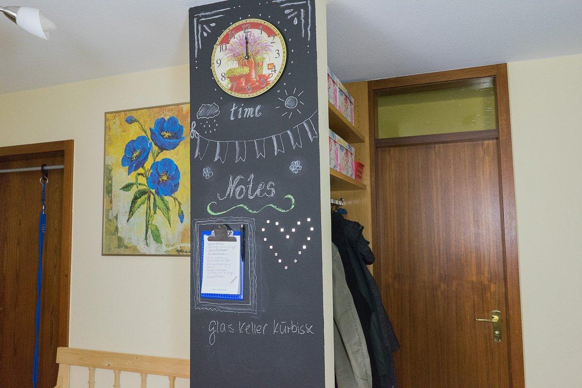 magnetische Tafelwand DIY, Tafelwand, Tafel Wand, Tafelfarbe Baufix