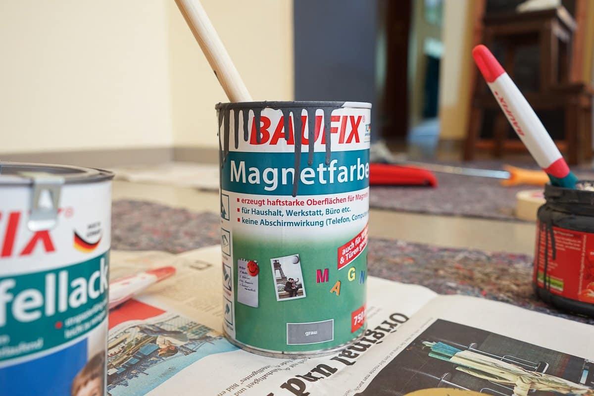 DIY – eine magnetische Tafelwand für den Flur