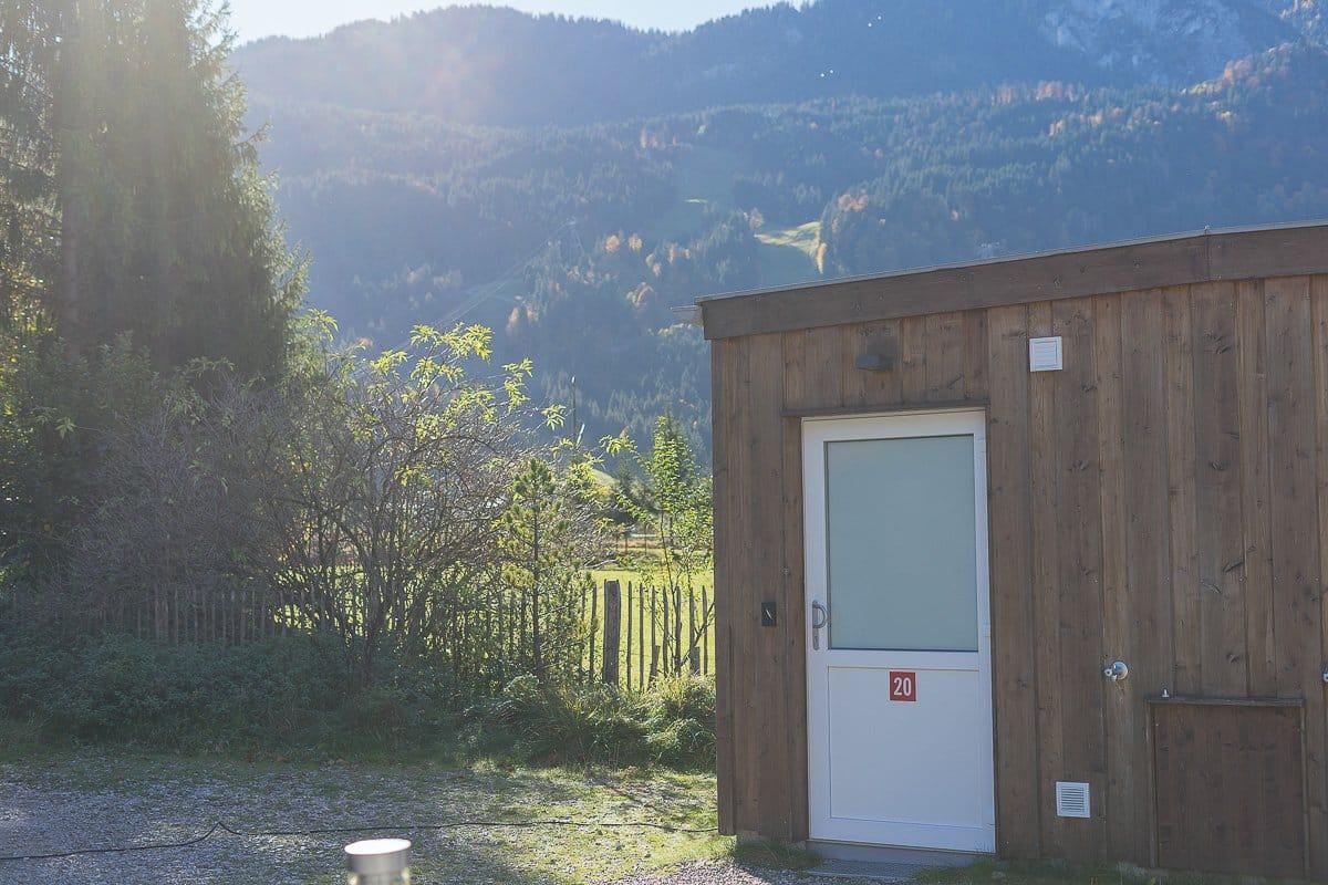 Wohnmobilstellplatz in der Nähe der Zugspitze