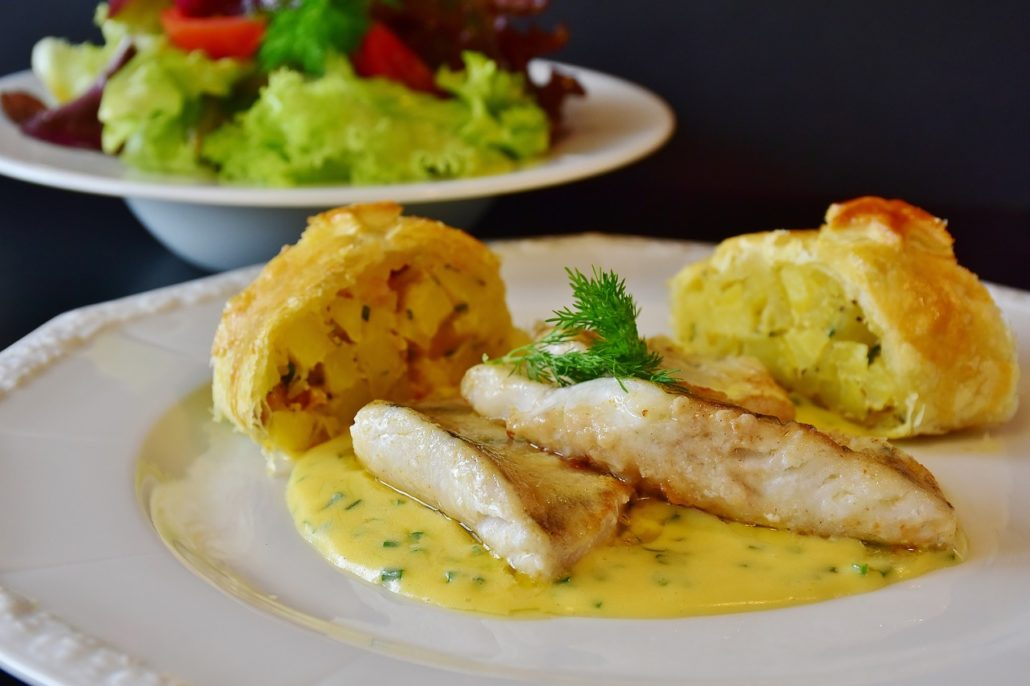 Fischfilet - Speiseplan zum Ausdrucken