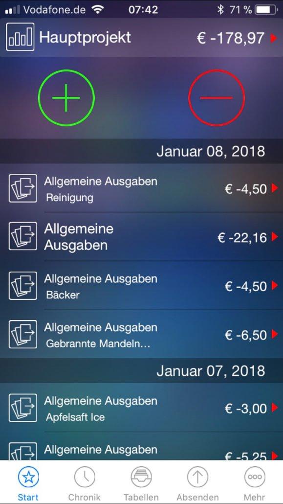 App Haushaltseinkommen