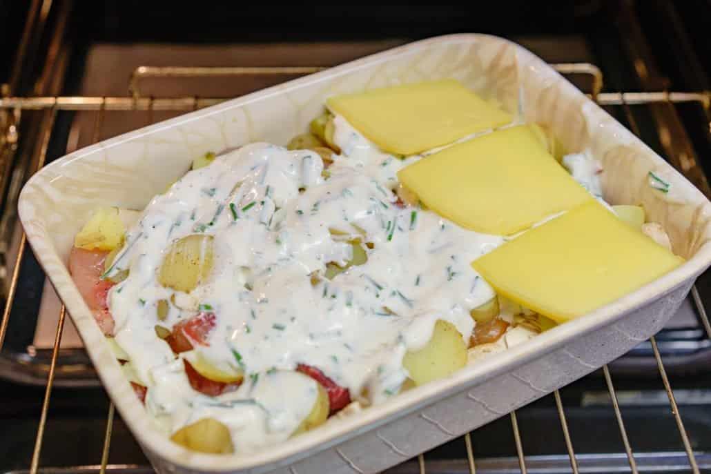 Raclette-Reste-Auflauf