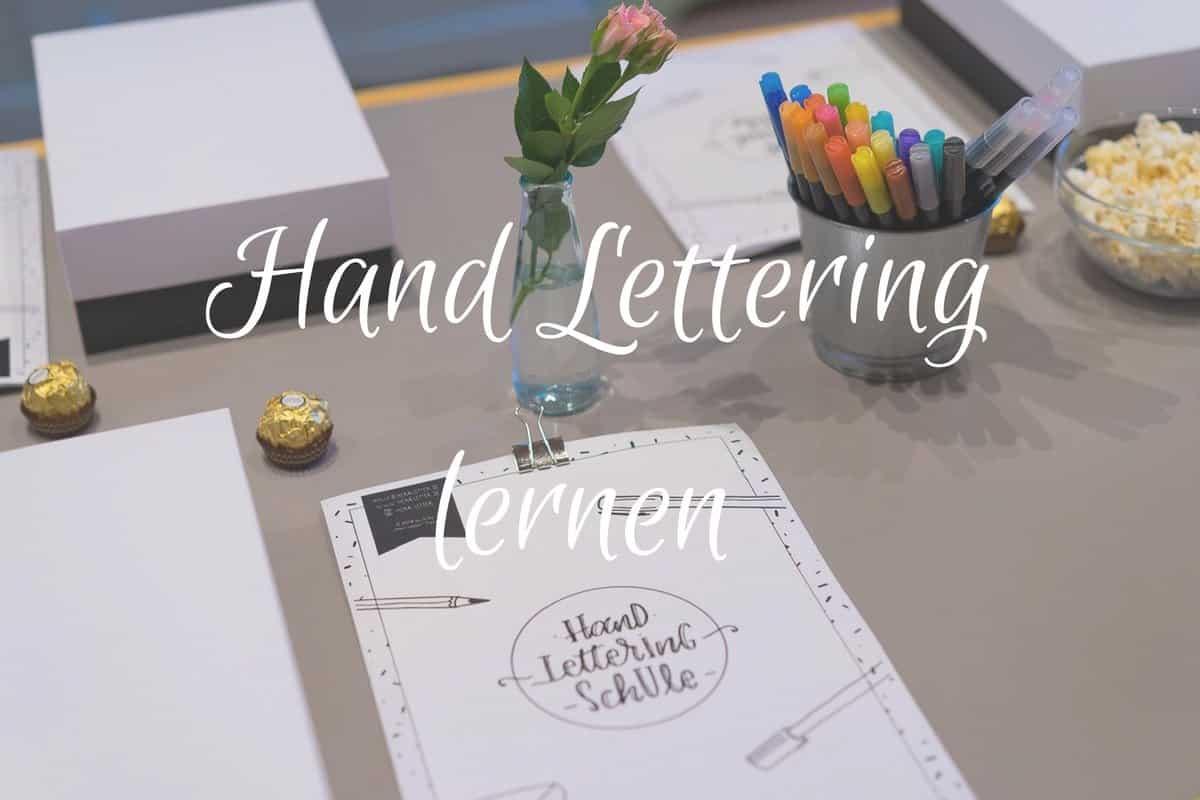 Hand Lettering lernen – Meine Ausstattung, der Besuch eines tollen Workshops – *Verlosung beendet
