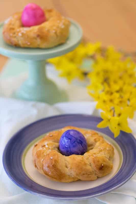 Ostern - Eierbecher - Hefekranz