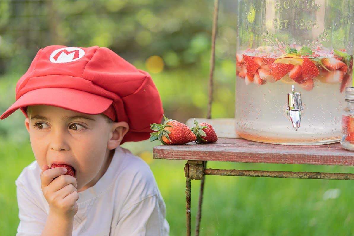 Erdbeerlimonade selber machen