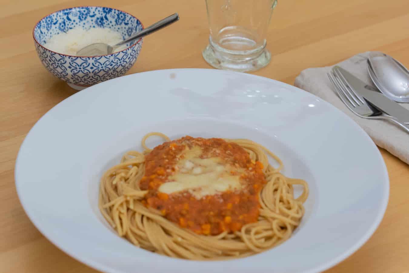 Vegetarische Bolognese aus dem Thermomix