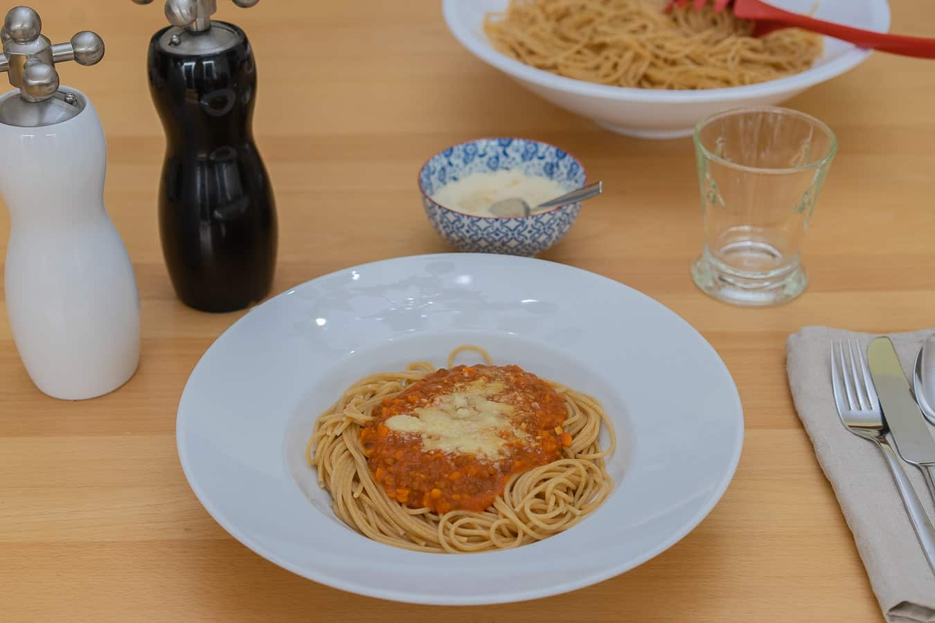Linsen Bolognese mit Spaghetti aus dem Thermomix®