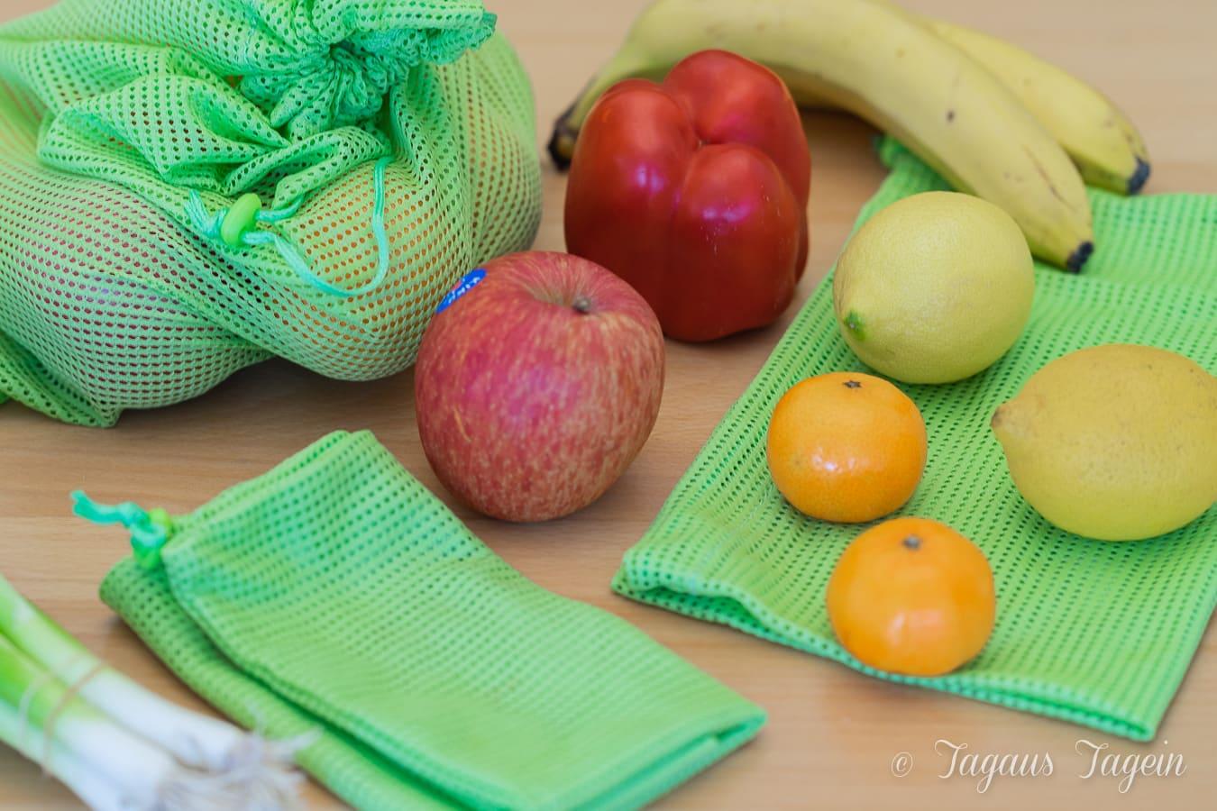 Wiederverwendbare Beutel für Obst und Gemüse – Kampf dem Plastikmüll