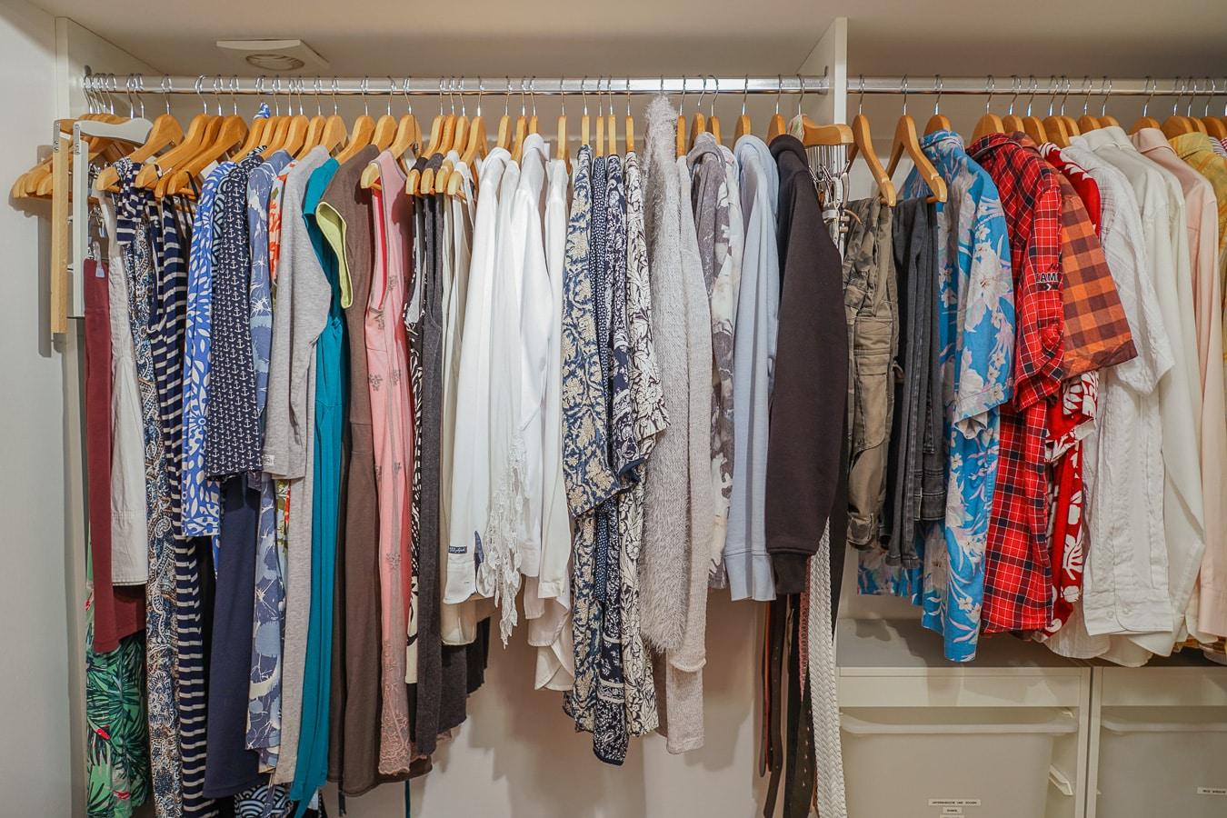 einheitliche Ordnung im Kleiderschrank