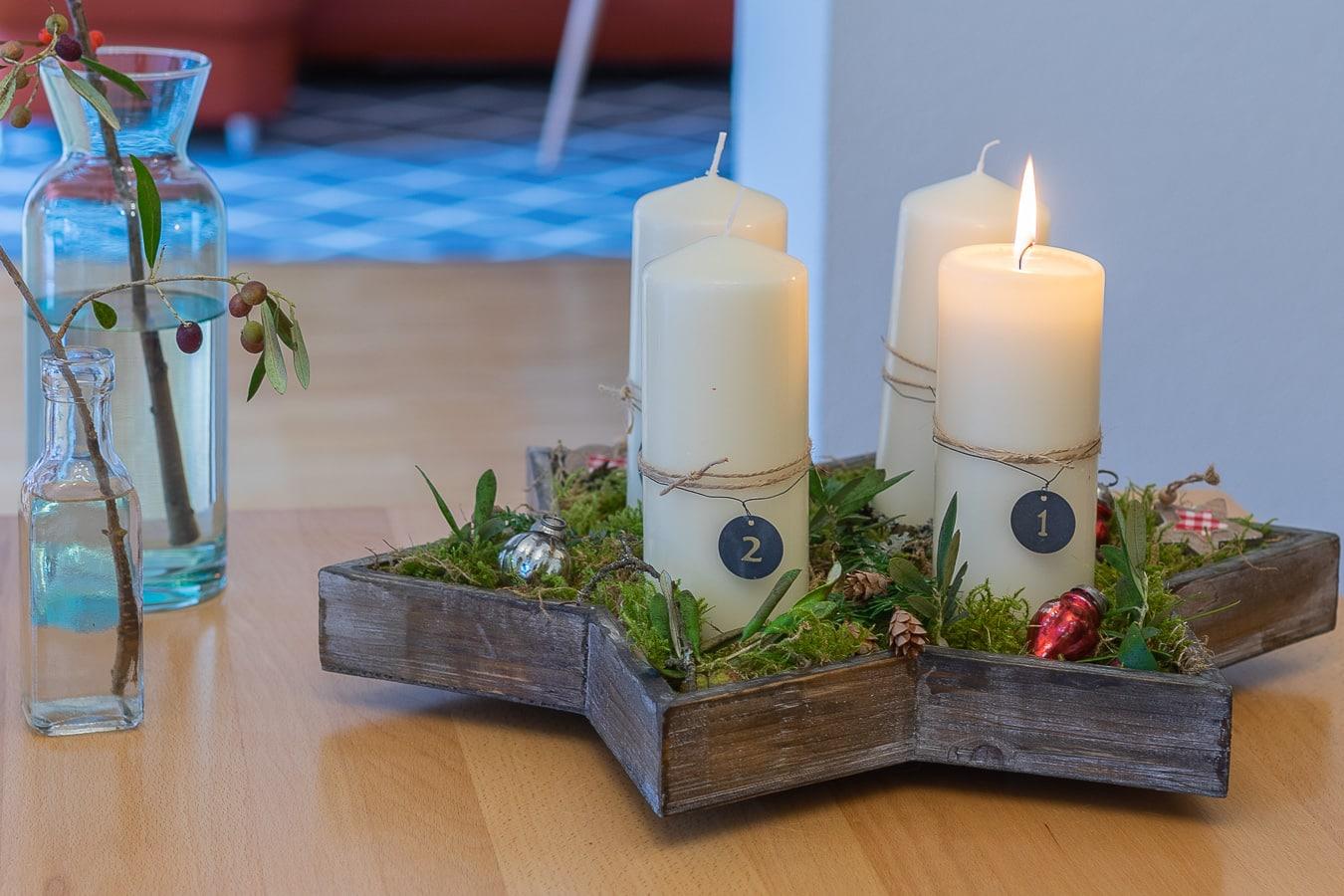 Weihnachtsdeko - Adventsgesteck