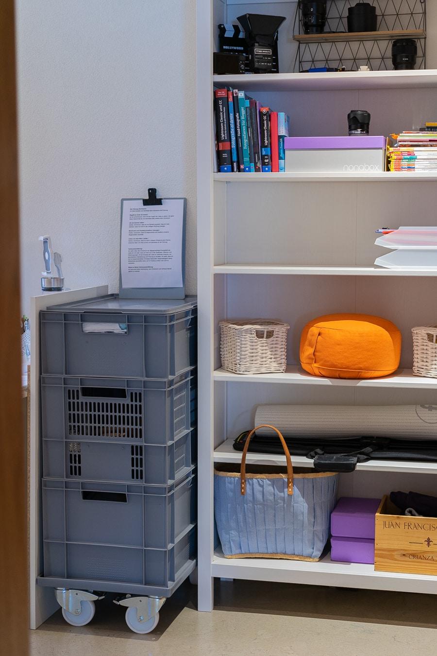 Arbeitszimmer mit Fotoequipment