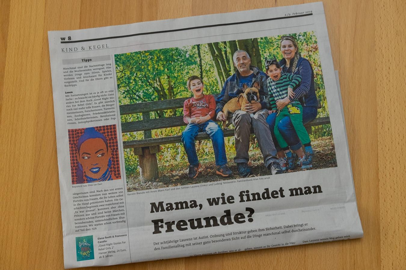 Zeitungsartikel Stuttgarter Zeitung Autismus