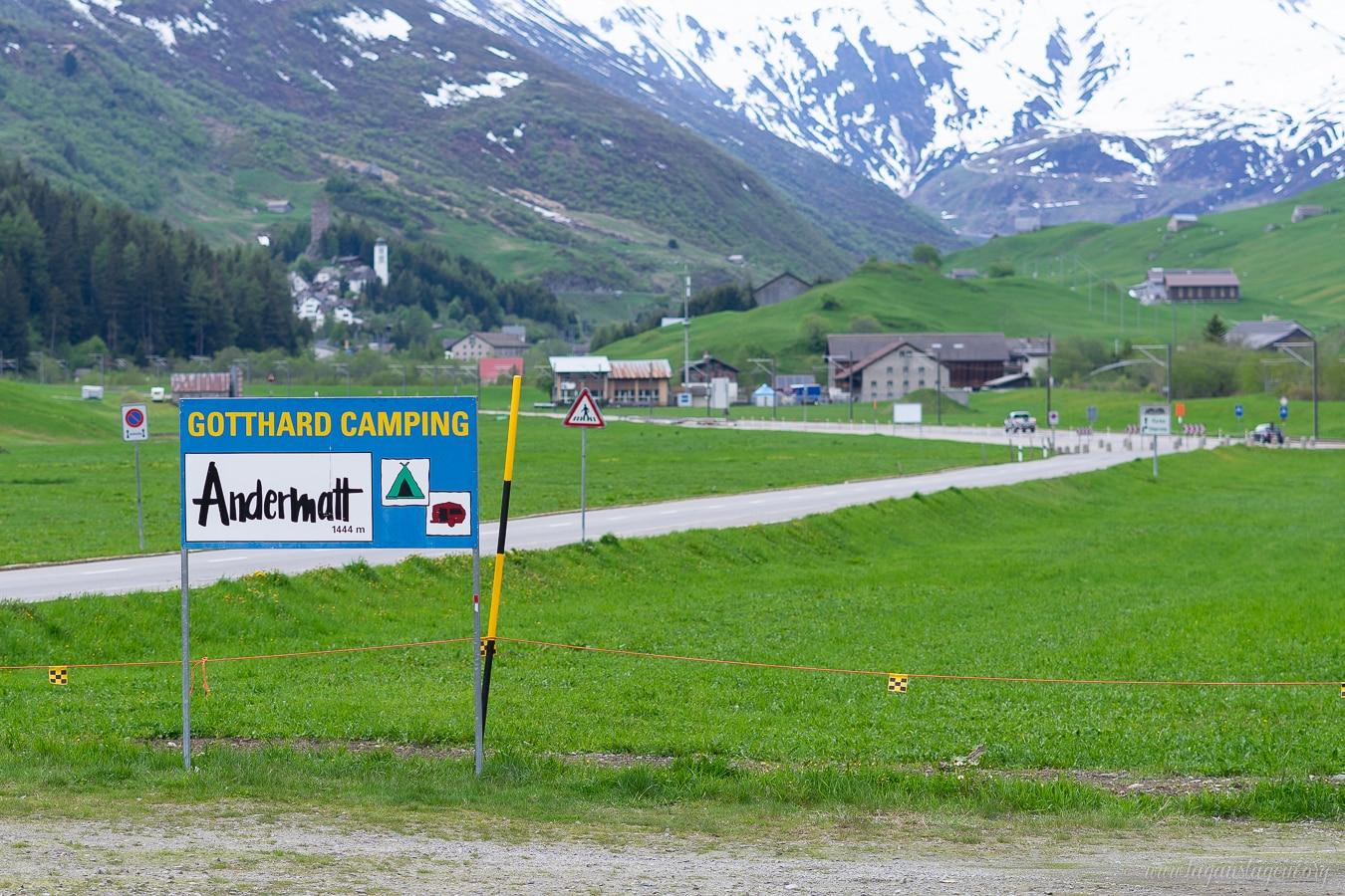 Wohnmobilstellplatz Andermatt Schweiz