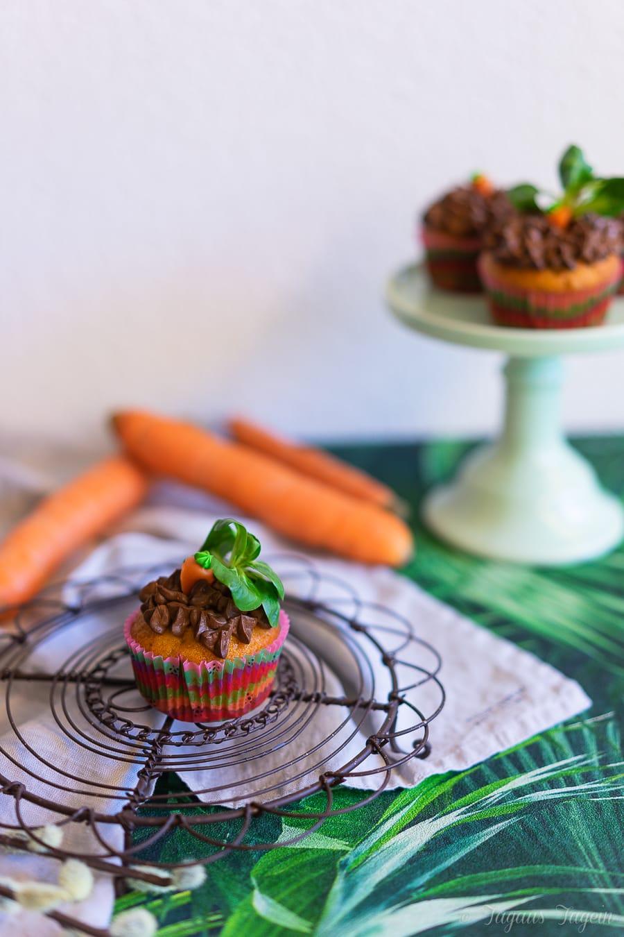 Karotten Cupcakes mit Frosting