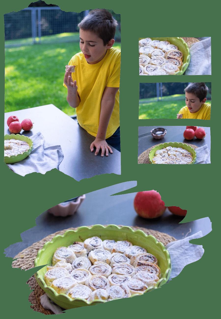 Zimtschnecken mit Pflaumenmus
