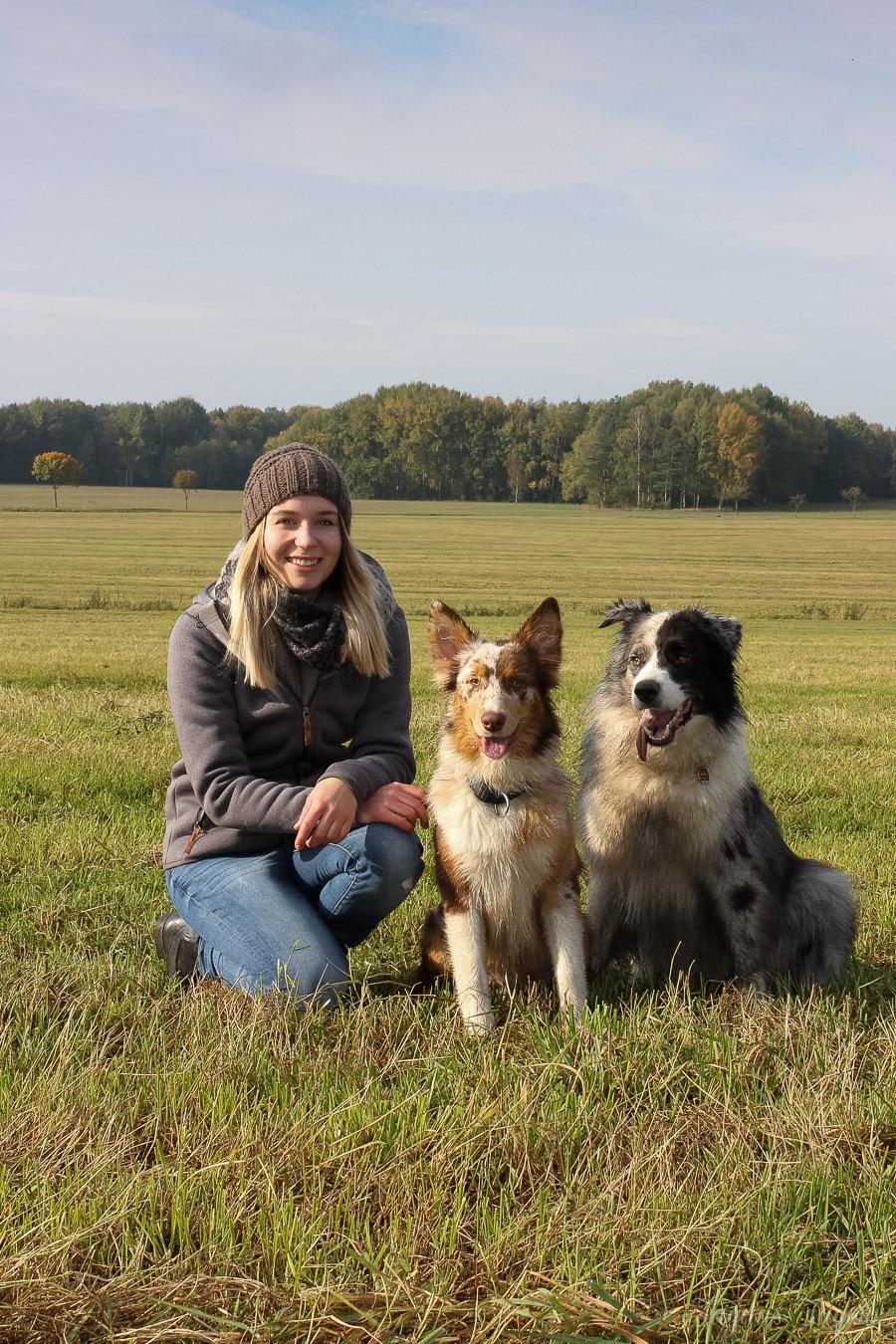 Hundeliebe - zwei Australien Sheperd Hunde - Smarty & Cooky