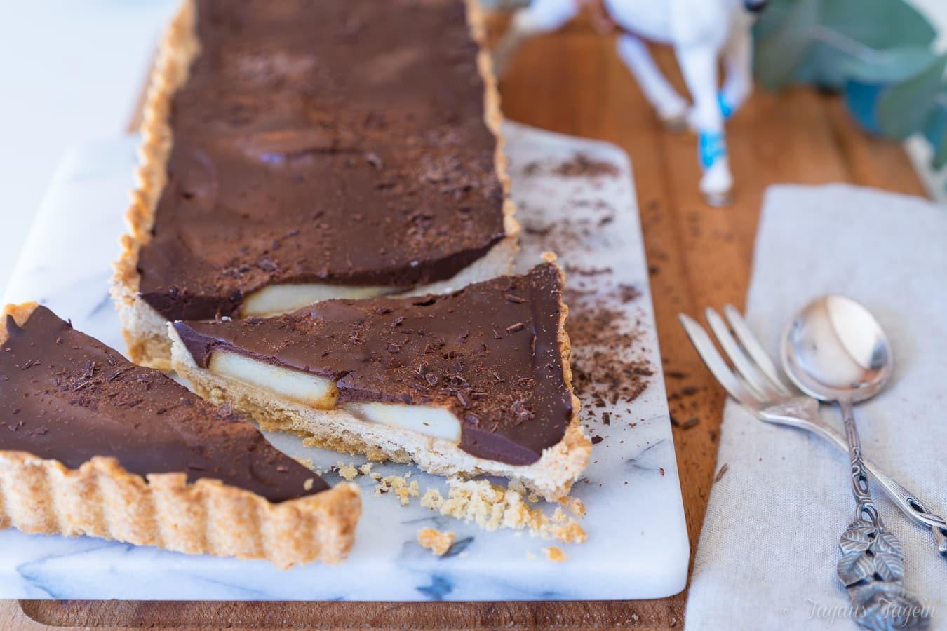 Birnen Schokoladen Tarte